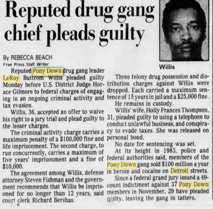 04 01 1986 Reputed drug gang chief pleads guilty
