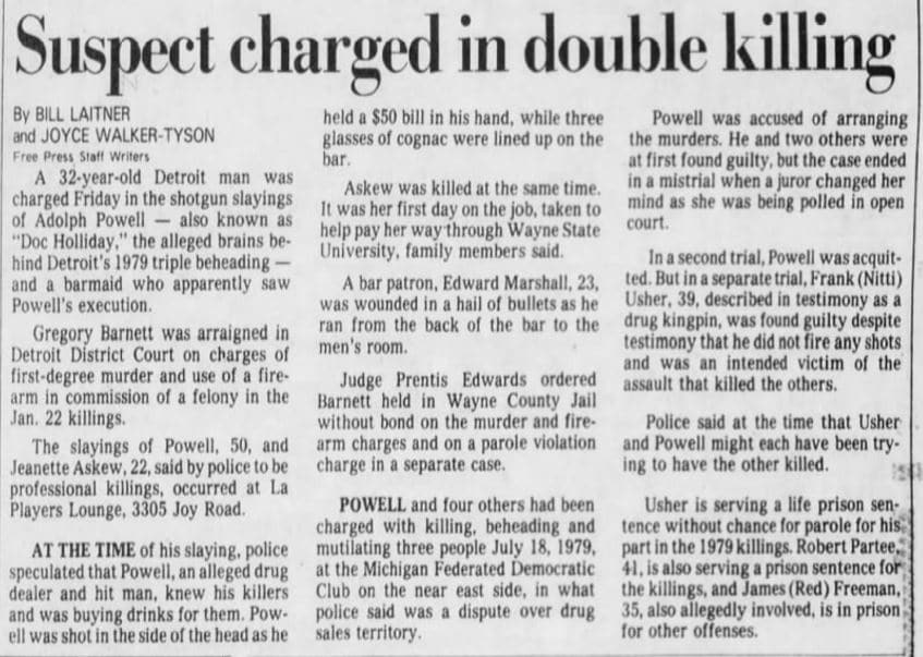 03 26 1983 Suspect charged in double killing